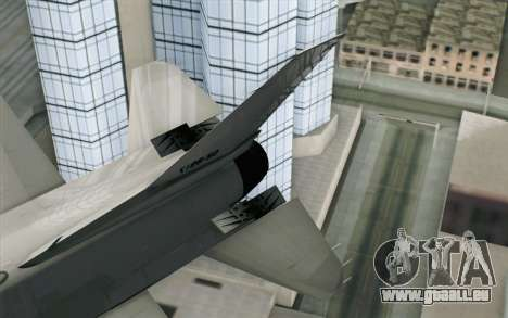 Mitsubishi F-2 Blue JASDF Skin für GTA San Andreas zurück linke Ansicht
