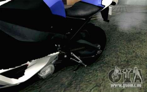 BMW S1000RR HP4 v2 Blue pour GTA San Andreas vue arrière