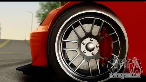 GTA 5 Benefactor Feltzer für GTA San Andreas Rückansicht