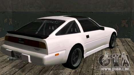 Nissan Fairlady Z 300ZX (Z31) pour GTA San Andreas sur la vue arrière gauche