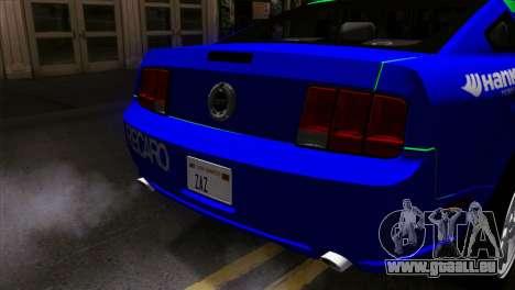 Ford Mustang GT Wheels 2 für GTA San Andreas Rückansicht