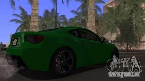 Scion FR-S 2013 Stock v2.0 für GTA San Andreas obere Ansicht