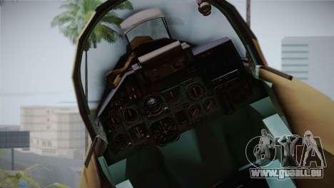 SU-27 Warwolf Squadron pour GTA San Andreas vue de droite