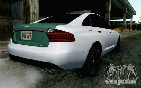 GTA 5 Obey Tailgater v2 IVF für GTA San Andreas linke Ansicht