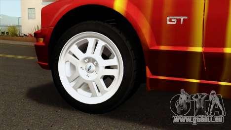 Ford Mustang GT PJ pour GTA San Andreas sur la vue arrière gauche