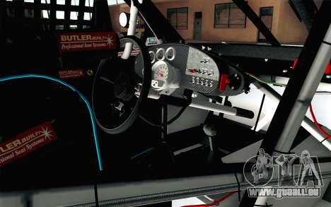 NASCAR Chevrolet Impala 2012 Plate Track pour GTA San Andreas vue de droite