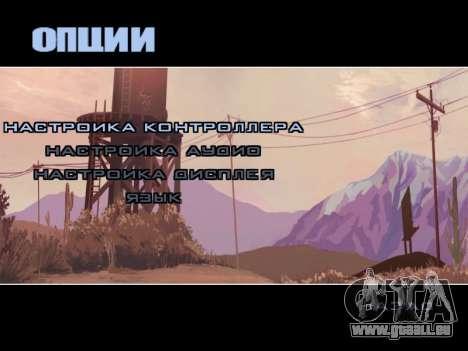 Menu HD pour GTA San Andreas quatrième écran