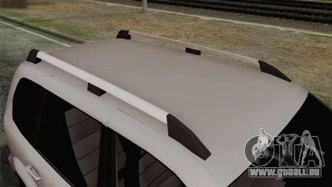 Chevrolet Niva pour GTA San Andreas vue arrière