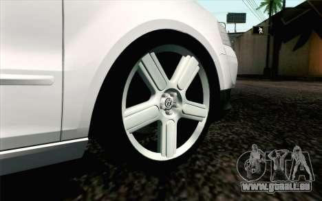Volkswagen Fox pour GTA San Andreas sur la vue arrière gauche