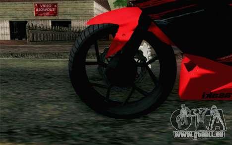 Kawasaki Ninja 250RR Mono Red für GTA San Andreas zurück linke Ansicht