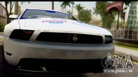 Ford Mustang 2010 Cobra Jet pour GTA San Andreas sur la vue arrière gauche