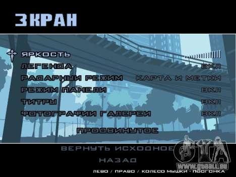 Menü HD für GTA San Andreas sechsten Screenshot