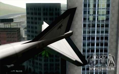 Hydra ADFX-02 Pixy pour GTA San Andreas sur la vue arrière gauche