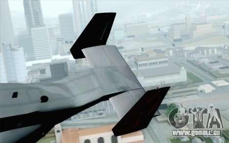 MV-22 Osprey VMM-265 Dragons pour GTA San Andreas sur la vue arrière gauche