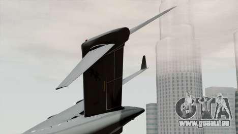 C-17A Globemaster III RAF für GTA San Andreas zurück linke Ansicht