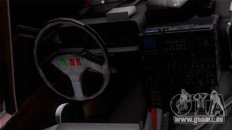 Shuttle v1 (wheels) pour GTA San Andreas vue arrière