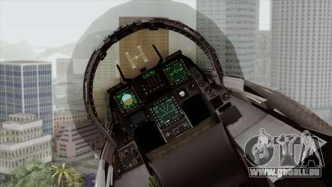 F-16C Block 52 pour GTA San Andreas vue arrière