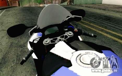 BMW S1000RR HP4 v2 Blue pour GTA San Andreas vue de droite