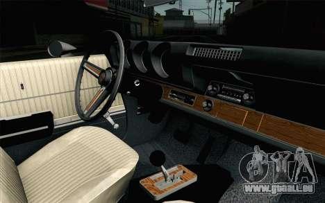 Oldsmobile 442 Vacances Coupé 1969 FIV АПП pour GTA San Andreas vue de droite