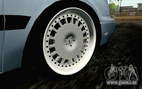 Volkswagen Golf Mk3 Eurolook pour GTA San Andreas sur la vue arrière gauche