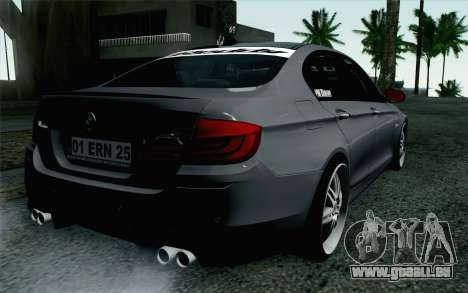 BMW 535i 2011 pour GTA San Andreas laissé vue