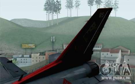 F-16 15th Fighter Squadron Windhover für GTA San Andreas zurück linke Ansicht
