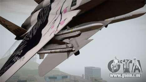 F-22 Raptor Colorful Floral pour GTA San Andreas vue de droite