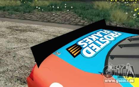 NASCAR Ford Fusion 2012 Short Track für GTA San Andreas Rückansicht