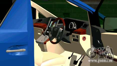 Toyota Alphard 350G für GTA San Andreas Innenansicht