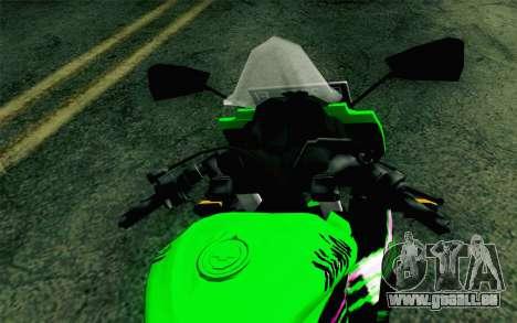Kawasaki Ninja 250RR Mono Green pour GTA San Andreas vue de droite