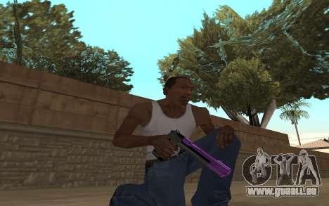 Purple Weapon Pack by Cr1meful pour GTA San Andreas deuxième écran