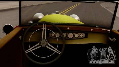 Ford A 1928 für GTA San Andreas Innenansicht