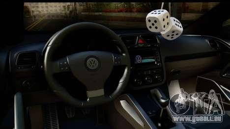Volkswagen Scirocco für GTA San Andreas Innenansicht