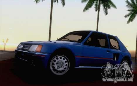 Peugeot 205 Turbo 16 1984 [HQLM] pour GTA San Andreas vue intérieure