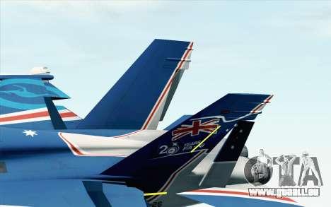 F-18D RAAF 20th Anniversary pour GTA San Andreas sur la vue arrière gauche