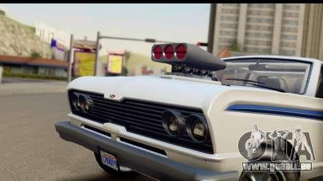 GTA 5 Vapid Blade v2 IVF pour GTA San Andreas sur la vue arrière gauche