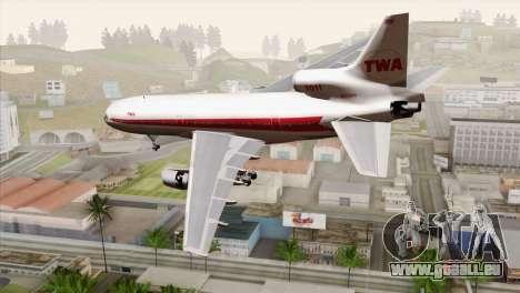 Lookheed L-1011 TWA für GTA San Andreas linke Ansicht