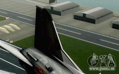 MIG-21MF Vietnam Air Force für GTA San Andreas zurück linke Ansicht