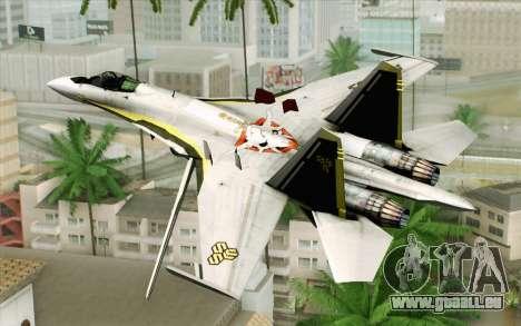 Sukhoi SU-27 Macross Frontier für GTA San Andreas linke Ansicht