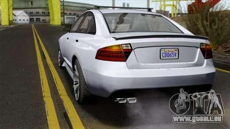 GTA 5 Obey Tailgater IVF pour GTA San Andreas vue arrière