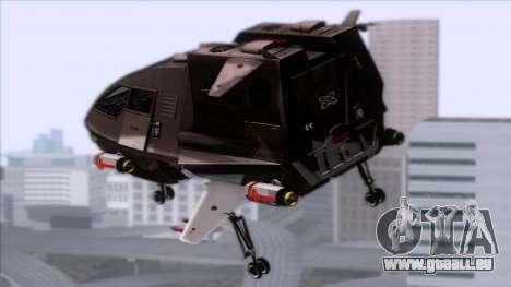 Shuttle v1 (wheels) pour GTA San Andreas laissé vue