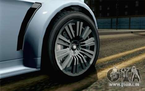 GTA 5 Dewbauchee Exemplar IVF pour GTA San Andreas sur la vue arrière gauche