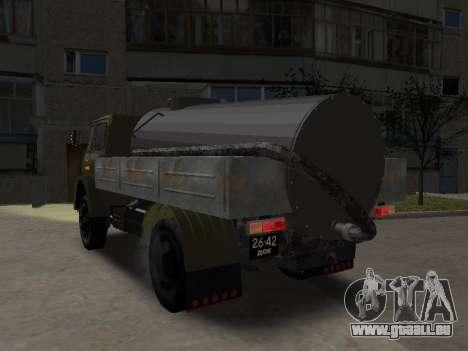 MAZ 503 plombier pour GTA San Andreas sur la vue arrière gauche