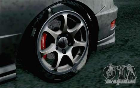 Acura Integra Type R 2001 Stock für GTA San Andreas zurück linke Ansicht