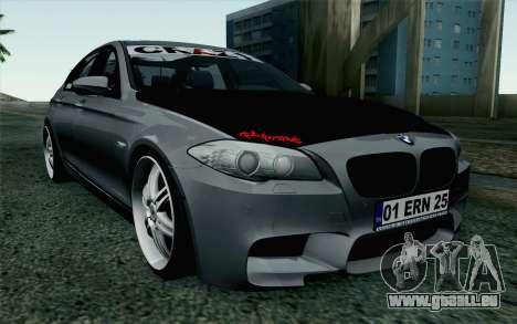 BMW 535i 2011 pour GTA San Andreas