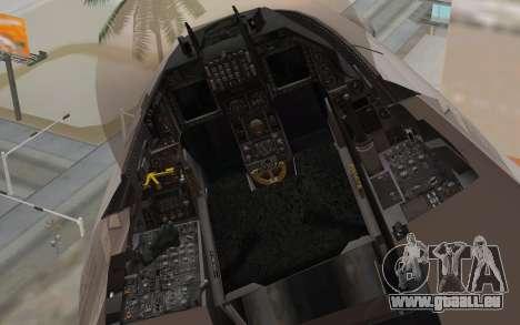 F-16 Fighting Falcon RNoAF für GTA San Andreas rechten Ansicht