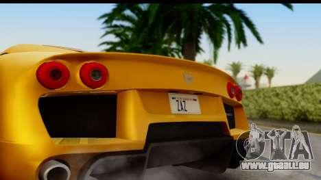 Noble M600 2010 HQLM pour GTA San Andreas vue de droite