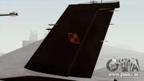 F-16C Block 52 pour GTA San Andreas sur la vue arrière gauche