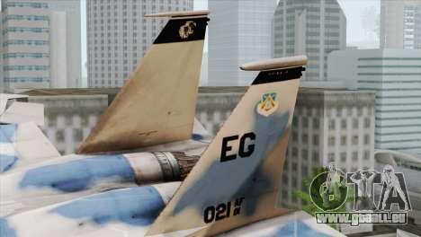 F-15E Artic Blue pour GTA San Andreas sur la vue arrière gauche