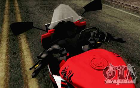 Kawasaki Ninja 250RR Mono Red für GTA San Andreas Rückansicht